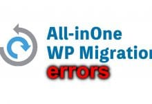 All-in-one WP Migration not backup